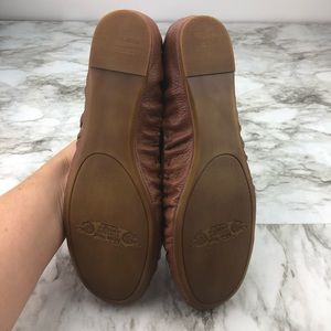 Nine West Shoes - Nine West Brown Tan Woven Leather Moccasin Flats